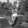 Seletar_1949_Dad_on_concrete_structure