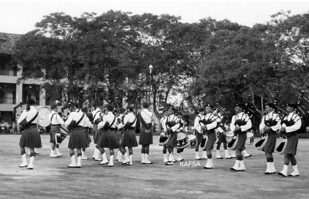 RAF Seletar Pipe  Band 7