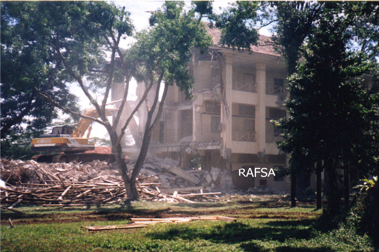 DEMOLITION OF G BLOCK-RED