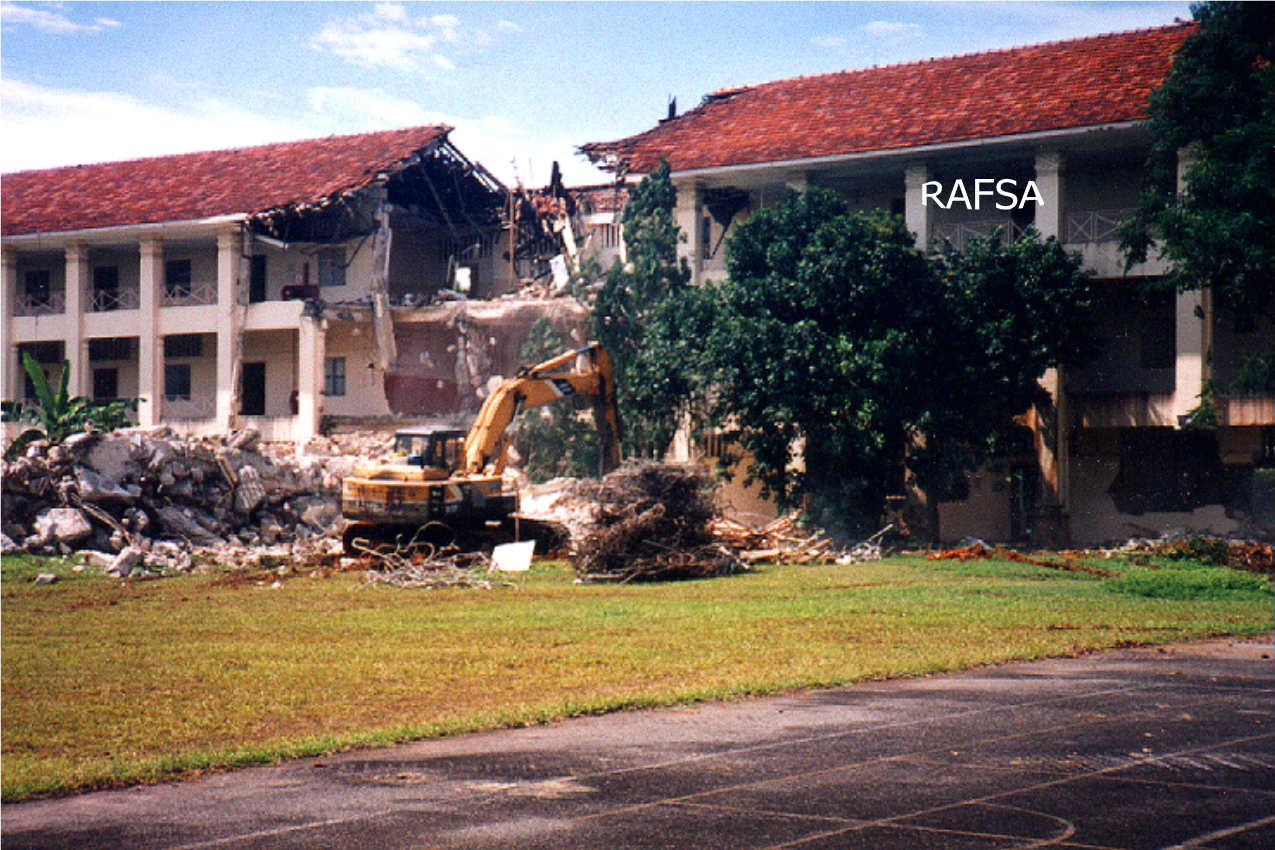 Demolition of G Block-2-red